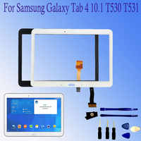 "Per Samsung Galaxy Tab 4 10.1 ""T530 T531 T535 SM-T530 Touch Screen Digitizer Vetro Del Sensore Pannello di Tablet Pc di Ricambio"