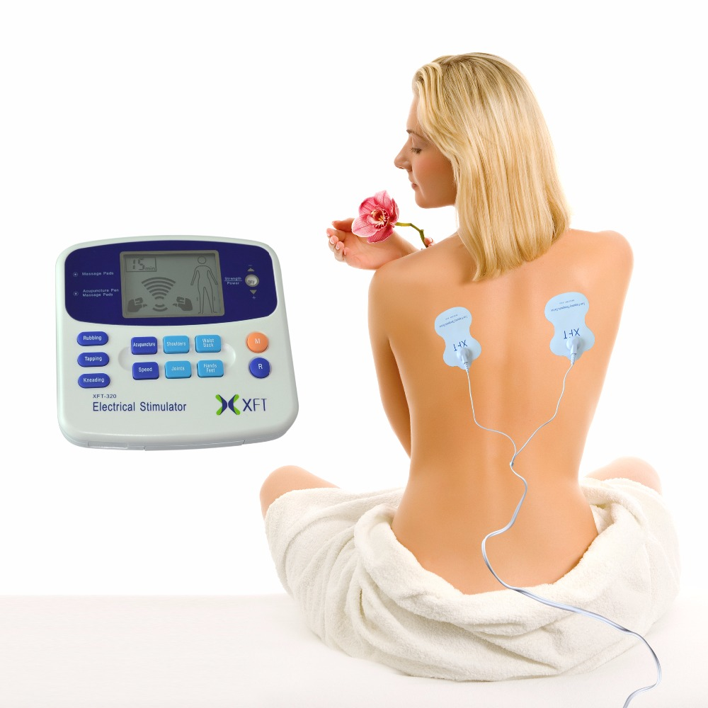 XFT-320 Elektrisk Stimulator Tens Massasjerenhet Dual Channel Body Relax Muscle Stimulator Back Knee Pain Relief Device