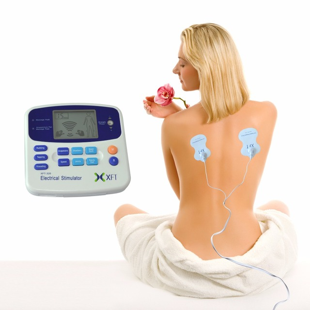 XFT-320 Electrical Stimulator Tens Massager Unit Dual Channel Body Relax Muscle Stimulator Back Knee Pain Relief Device