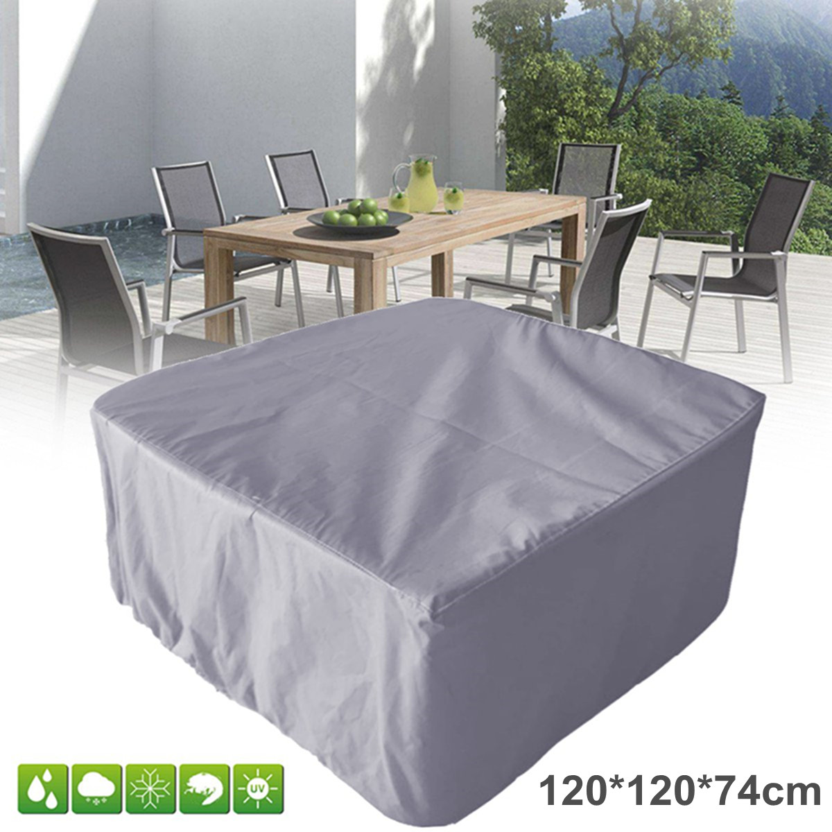 120*120*74cm Waterproof Outdoor Patio Garden Furniture Covers Rain Chair Covers For Sofa Table Chair Dust Proof Cover