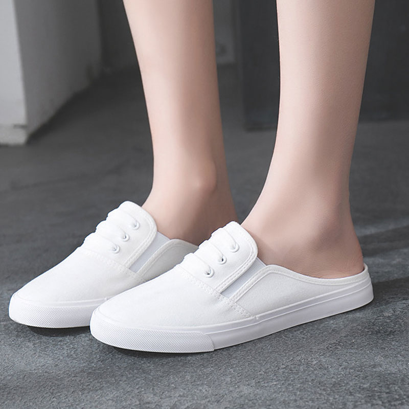 Designer Canvas Shoes Women Flats Loafers Slip On Summer Mules Ladies Flat Casual Shoes Female White Sneakers Zapatos Mujer designer summer flat shoes women ladies suede casual canvas shoes anti slip flats loafers shallow slip on shoes zapatos mujer