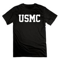 3D Uomini Poco Costoso Caldo A Maniche Corte Uomo Tshirt uomo USMC Wordmark Marines DEGLI STATI UNITI Militare Logo Cotone A Maniche Corte T camicie