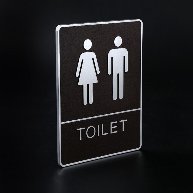 Men Women Toilet Signs Bathroom Washing Dressing Room Signage Board Wall Panels Sticky Sign Plate Adhesive Bathroom Plastic Sign