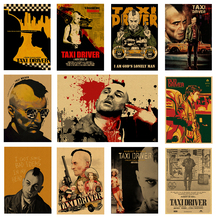 Classic film violence aesthetics, movie posters, kraft paper wall stickers, decorative paintings, retro posters