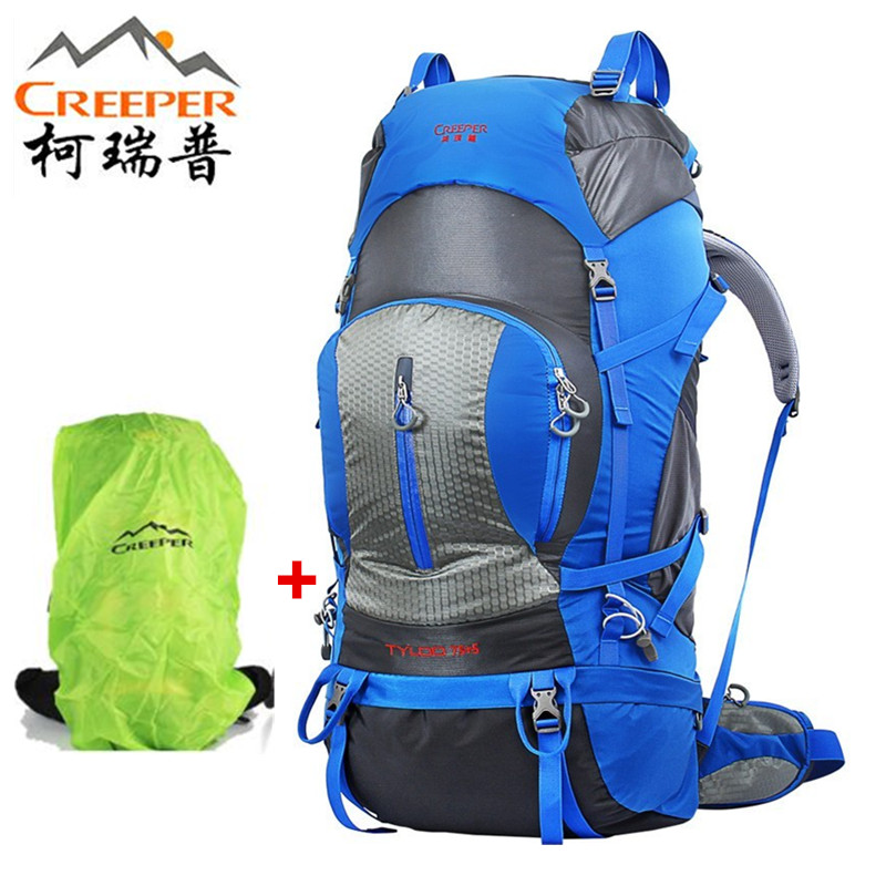 CREEPER Climbing backpack men 2018 Professional Travel backpack Trekking Rucksack Camp Equipment Hike Gear 75 L+5 L Men Women страховочная система camp camp energy l l