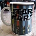 Drop shipping! Star Wars Mug  Lightsaber Heat Reveal Mug color change coffee cup sensitive Ceramic Mug