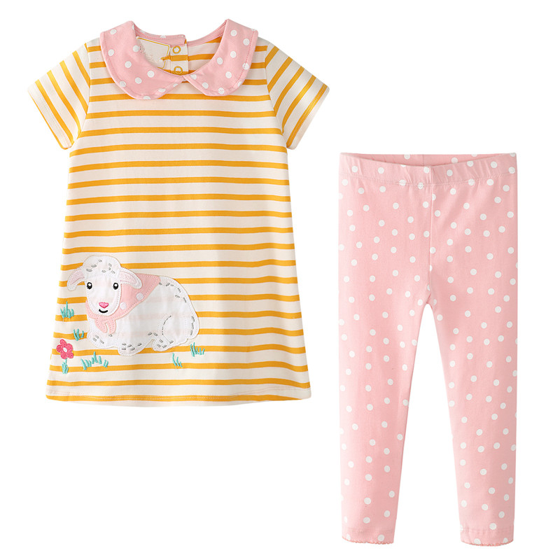Bear Leader Girls Clothing Sets 2018 New Brand Sunmmer Kids Clothes Clothes+Pants 2Ps Baby Girls Sets For 2-7 Years bear leader baby boys girls sets 2017 autumn baby clothing sets house applique sweatshirt striped pants 2pcs for baby clothes