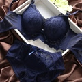 Sexy Women Embroidery Lace Lingerie Underwear Push-Up Padded Bra Set Brassiere 32-36B