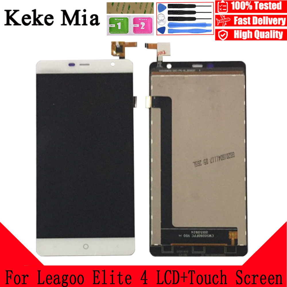 Keke Mia 5.0 inch For Leagoo Elite 4 LCD Display And Touch Screen Digitizer Assembly Replacement With Free Tools+Adhesive+Wipes