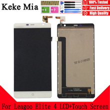 Keke Mia 5.0 inch For Leagoo Elite 4 LCD Display And Touch Screen Digitizer Assembly Replacement With Free Tools+Adhesive+Wipes top quality for leagoo elite 1 lcd display screen touch screen panel assembly replacement