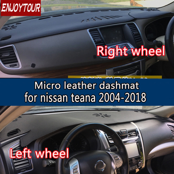 For Nissan Teana 2004-2018 Leather Dashmat Dashboard Cover Prevent Sunlight Pad Dash Mat 2007 2008 2009 2010 2012 2013 2016 2015
