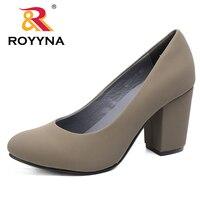 ROYYNA 2016 Autumn New Arrivals Women Pumps High Heel Round Toe Platform Popular Comfortable Zapatos De