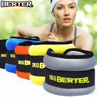 2pc/1pair 1kg Leg Ankle Weights Straps wrist weight Strength Training Exercise Fitness Equipment For Running Basketball Football