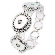 three snaps trend 18mm steel xinnver snap Button bracelet watches girls feminine DIY jewellery love bangles ZE010