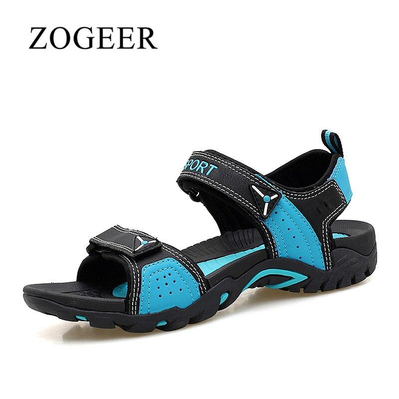 גודל גדול 35-46 סנדלי חוף Mens ZOGEER, נעליים מזדמנים קיץ של גברים רכים, 2018 חדש לנשימה נעלי הליכה גברים