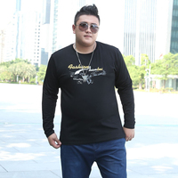 2017 New Style Printed Fashion O Neck Plus Size T Shirt Mens Brand Clothing Long Sleeve
