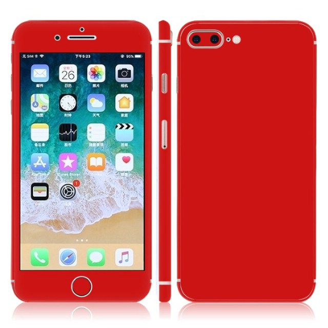 new concept 3ae61 a7238 US $1.29 35% OFF|Pure color skin sticker Vinyl Decal full body for iphone 8  Plus cover wrap-in Stickers from Consumer Electronics on Aliexpress.com |  ...