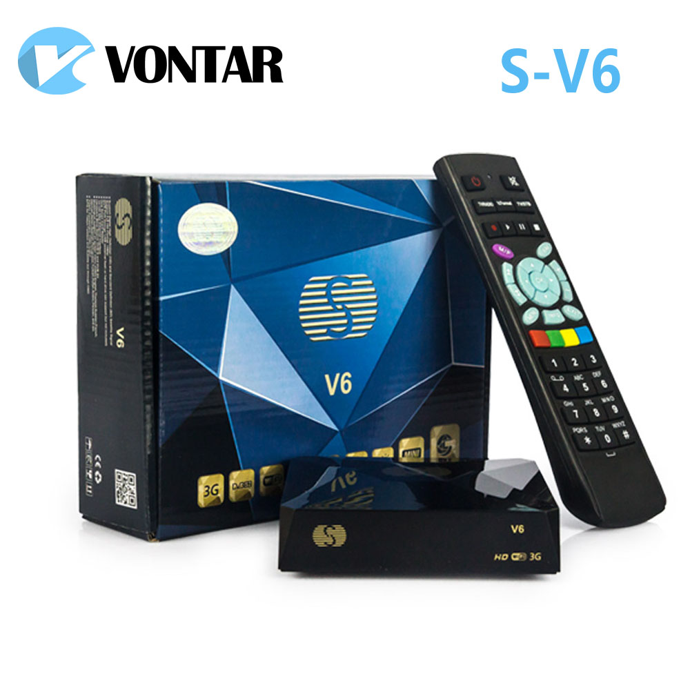 [Genuine] S-V6 Mini HD Satellite Receiver V6 Support CCCAMD Newcamd xtream iptv NOVA Wheel TV youtube USB Wifi 3G Biss Key de it es channels dvb s s2 satellite fta lines 1 year cccam clines newcamd usb wifi satellite tv receiver for free shipping