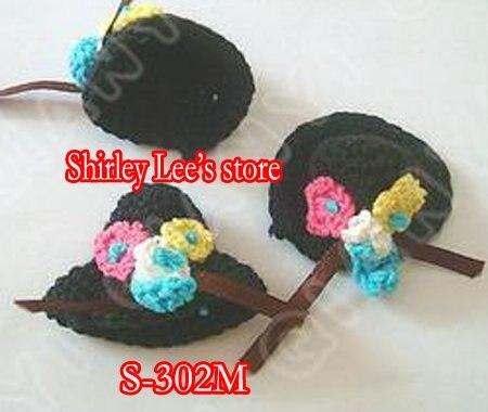600X(3,5x4,5 см) супер красивое кружево кроше ручная работа миниатюрная шляпа в белом/черном/синем цвете, Микс 3 цвета