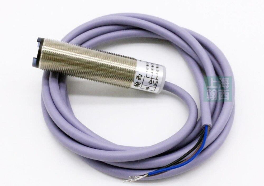 Capteur de mouvement analogique optoélectronique 10-100 MM M18 0-5 V/0-10 V/4-20mA capteur de proximité de mesure de distance de déplacement