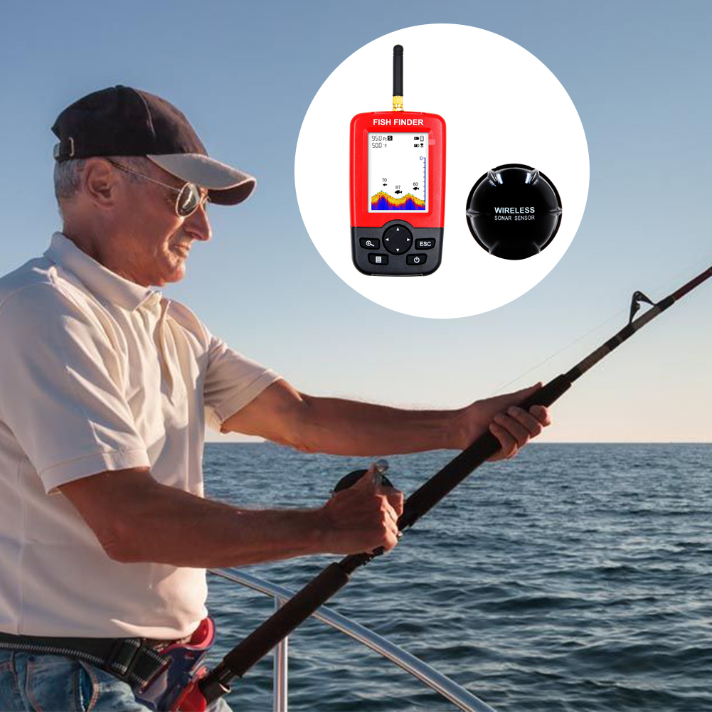 Smart Depth Portable Fish Finder with 100M Wireless Sensor Sonar Echo sounder Fishfinder for lake sea fishing portable smart lcd depth fish finder with 100m wireless sonar sensor fishing lure echo sounder fishfinder for lake sea fishing