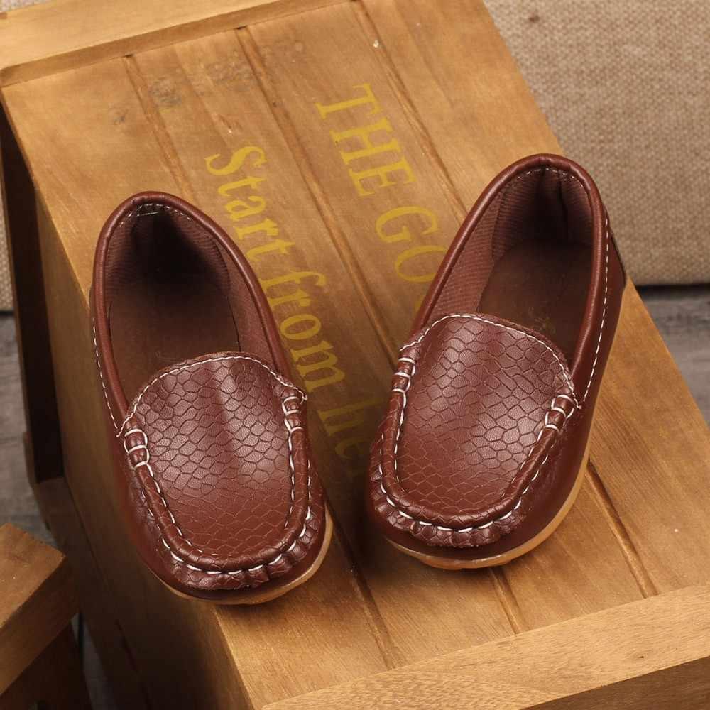 Nieuwe Kinderen Loafers Schoenen Sneakers Voor Kids Baby Jongens Casual Lederen Peas Schoenen Peuter Meisjes Zachte Bodem Schoenen Comfortabele