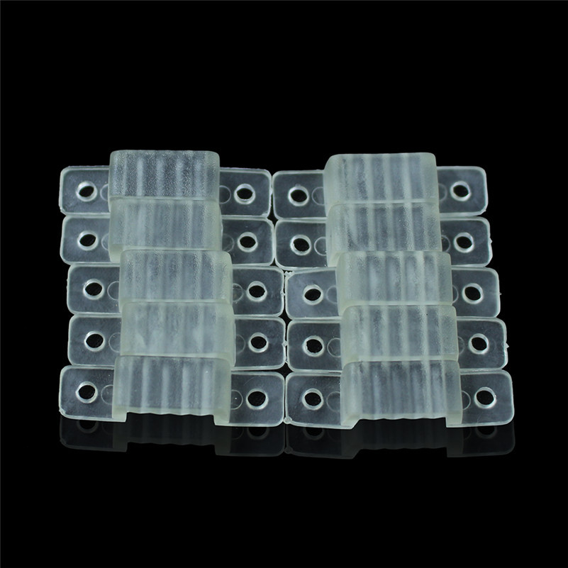 50Pcs/Lot 10mm Plastics Fixing Mounting Clips LED Strip Fastening Connector U-Shaped Bracket For 220V 5050 2835 LED Tape Lights