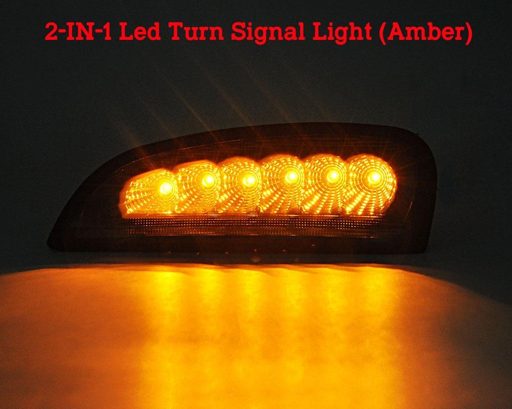 Estrella superior 12 W 2 unidades Led luces de funcionamiento del día, lámpara antiniebla frontal para coche DRL con función de luz ámbar para Honda CRV 2012 2014 - 5
