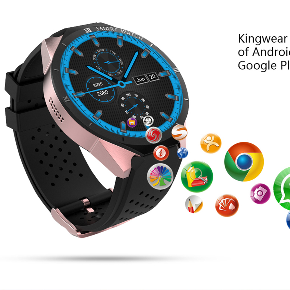 Smart Watch KW88 Pro 3G Smartwatch Phone 1.39 inch Android 7.0 MTK6580 Quad Core 1.3GHz 1GB RAM 16GB ROM WITH Heart rate monitor цена