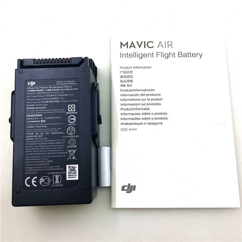 Original DJI Mavic Air Intelligent Flight Battery DJI Drone Spare Parts accessories 11.55V 2375mAh Battery аксессуар для квадрокоптера dji mavic air intelligent flight battery part9