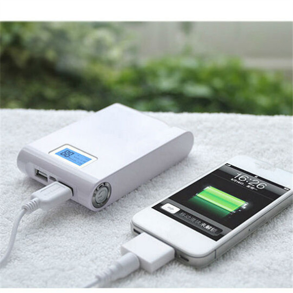 Бесплатная доставка Аккумуляторная 18650 Литиевая Батарея dual usb 9000 мАч банк питания для iphone