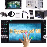 Two 2 Din Car Cassette Multimedia Auto Gps DVD CD Player Stereo FM AM Radio GPS