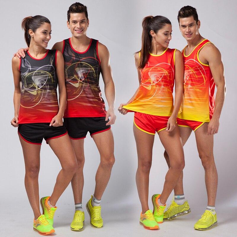 Competente Set Per Running Pista E Campo Sportivo, Sprint Vestito, A Lunga Distanza Corsa E Jogging Vestito, Maratona Vestiti Della Maglia + Shorts Kit