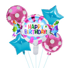 5pcs Mini Candy Foil Balloons  point Round Air Birthday Party Decorations Kids Globos Baby Shower Supplies