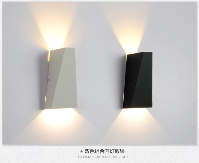 indoor led wall sconce modern iron wall lamp bedroom bedside lamp