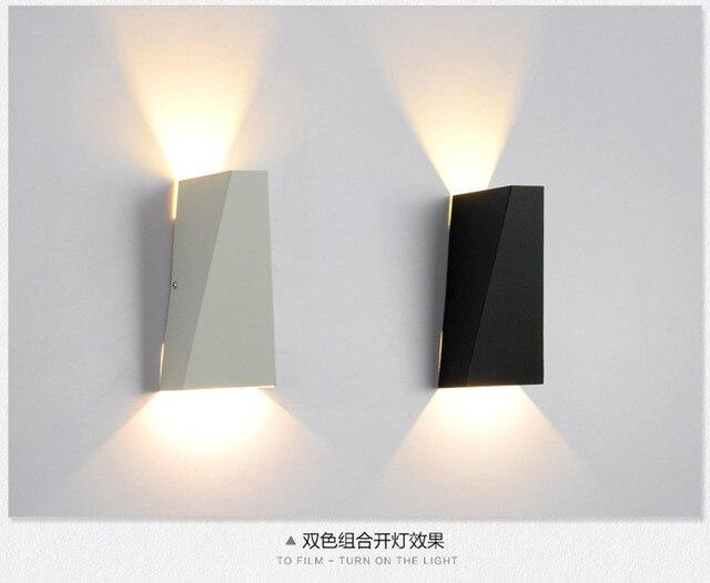 Indoor led wandkandelaar moderne ijzeren wandlamp slaapkamer