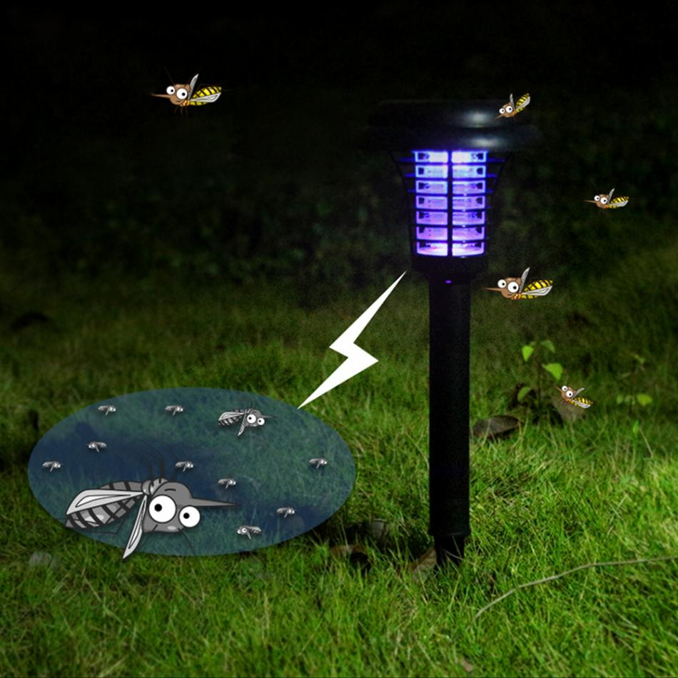 hot mosquito killer solar power led lamp outdoor garden yard lawn walkway lamps bug insect light. Black Bedroom Furniture Sets. Home Design Ideas