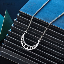 Romad Moon Eclipse Pendant Necklace Rose Gold Silver Moon Pendant Necklace Jewelry For Women ziiiro наручные часы ziiiro eclipse metalic rose gold
