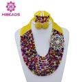 2016 Multi Color Collar de La Joyería Set Crystal Beads Africanos Boda Nigerianos Joyería de Traje de Moda Envío Gratis AEJ375