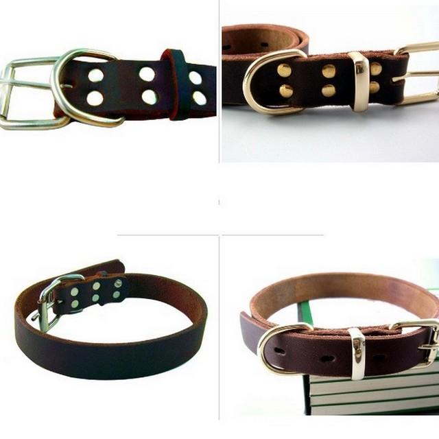 Genuine Leather Pet Dog Collar
