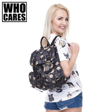 Voyou Singes noir Impression sac à dos en cuir vintage sac à dos 2016 qui se soucie de mode new hot mochila sacs d'école pour les adolescents