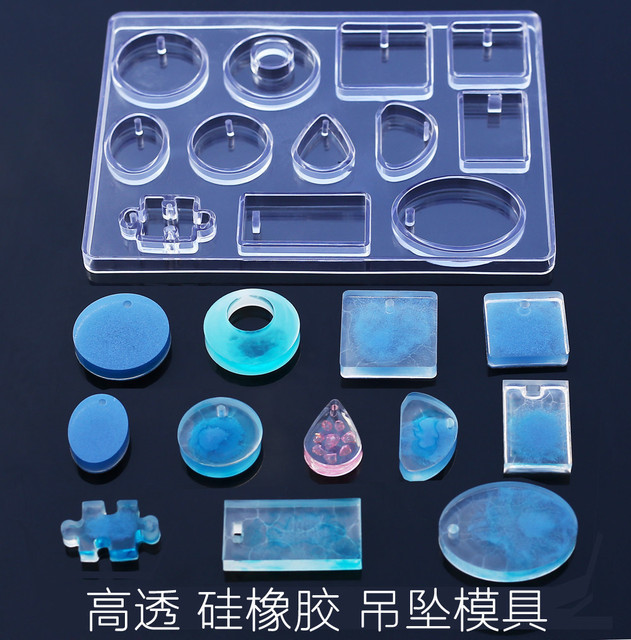 12 Designs Cabochon Silicone Mold Necklace Pendant Resin Jewelry Making Mould DIY Hand Craft resin molds for Jewelry