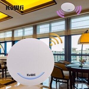 Image 1 - KuWfi 600 Mbps sans fil Point daccès plafond AP WIFI routeur 48 V POE double bande intérieure AP routeur WIFI répéteur WIFI Extender Signal