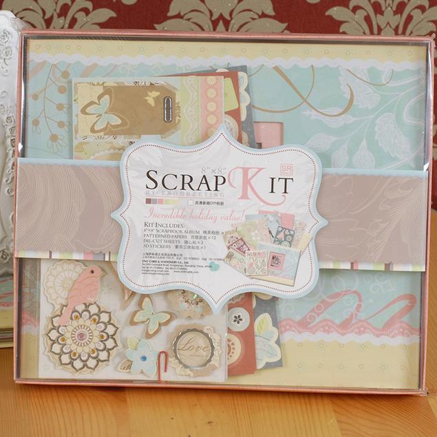 Hot sale DIY Album Scrapbooking Merah Ungu Merah Muda Album Kertas - Dekorasi rumah