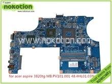 JM31-CP MB 48.4HL01.03N 55.4HL01.361G MB.PV101.001 Laptop Motherboard For acer aspire 3820T 3820TG ATI HD5650 Graphics