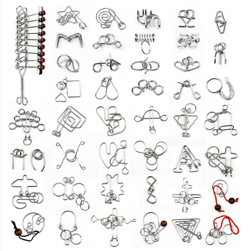 18/36/45 PCS / Set Cina Cincin IQ Kawat Logam Puzzle untuk Anak-anak / Orang Dewasa, Teka-teki asah otak Kreatif Permainan Mainan Pendidikan hadiah