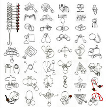 18/36/45 PCS/Set Chinese Ring IQ Metal Wire Puzzle for Children/Adults,Creative Brain Teaser Puzzles Game Educational Toys Gifts