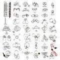 45 Pçs/set Chinês Anel IQ Enigma Do Fio de Metal para Crianças/Adultos, Criativo Brinquedos Educativos Jogos de Puzzles Provocação de Cérebro presentes