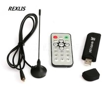 REXLIS High Quality Universial Digital USB TV FM+DAB DVB-T RTL2832U+FC0012 Support SDR Tuner Receiver High Quality