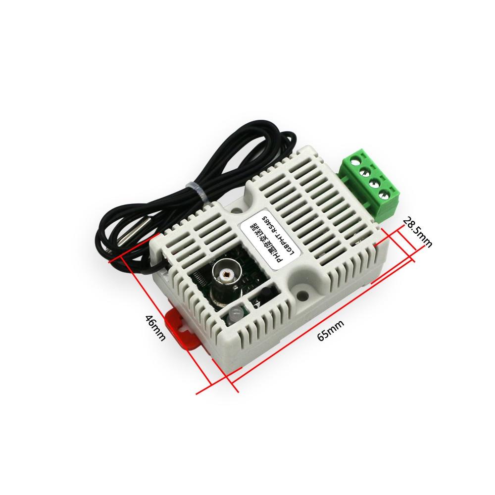 Module de capteur de détection d'émetteur de température de valeur de PH, RS485/4-20mA/0-10 V/0-5 V capteur de PH d'émetteur de température de sortie